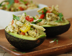 Chicken & Veggie Avocado CUps