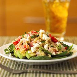 Quinoa, Avocado, & Spinach Salad
