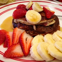 Strawberry Banana Marijuana Pancakes