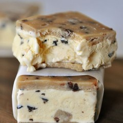 Chocolate Chip Cookie Dough Ice Cream Sandwiches