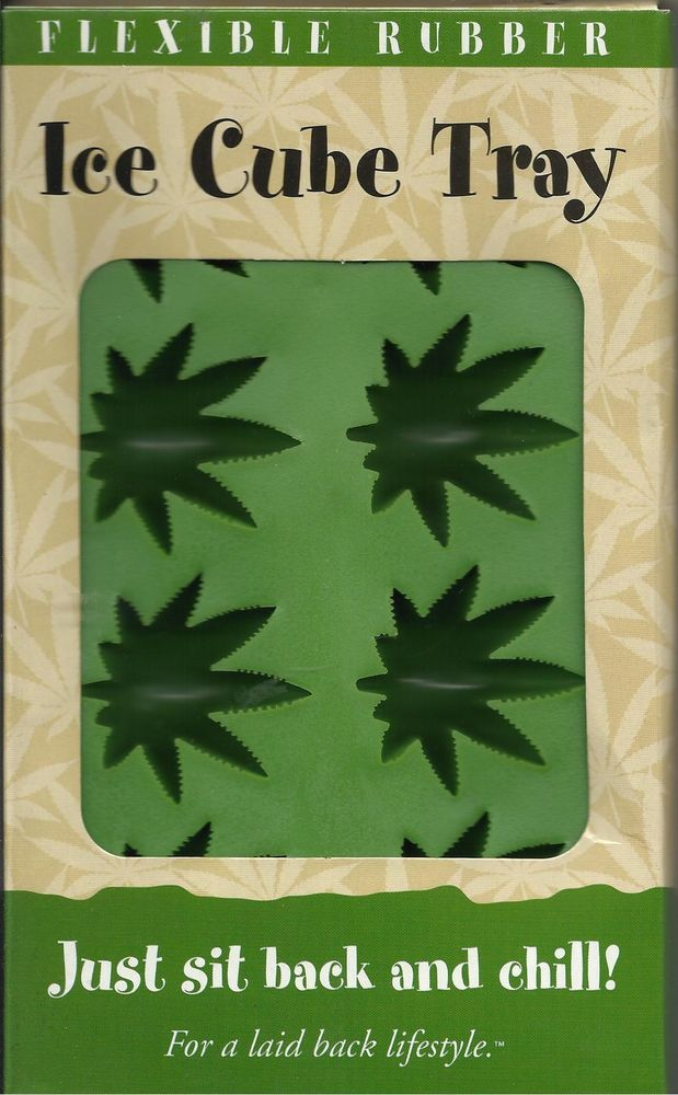 Pot leaf ice cubes