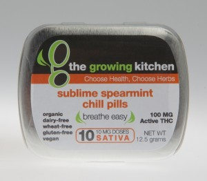 Sublime Spearmint Chill Pills 10 Per Package / Sativa Doubling as a gentle decongestant, this all-natural hard candy is great for treating anxiety, pain, and upset stomach Active THC 100 mg