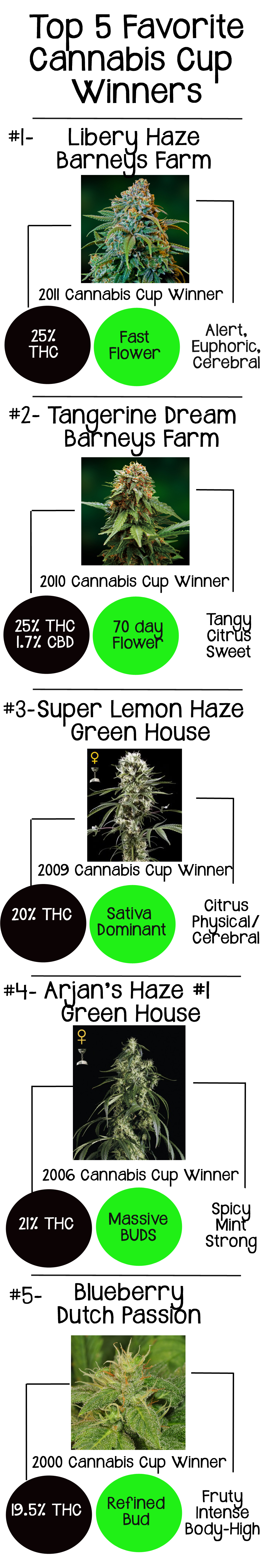 Top 5 Favorite Cannabis Cup Winners